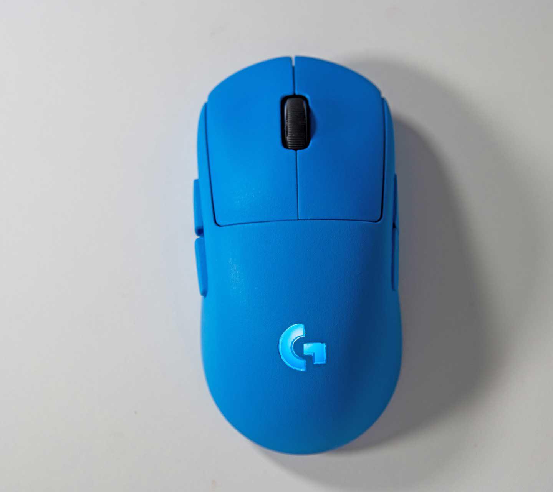 Custom Painted Logitech G Pro Wireless in Blue
