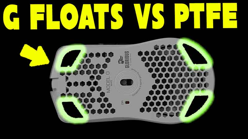 Glorious G Floats Review | Glide Tests vs G Skates PTFE | Model O Wireless