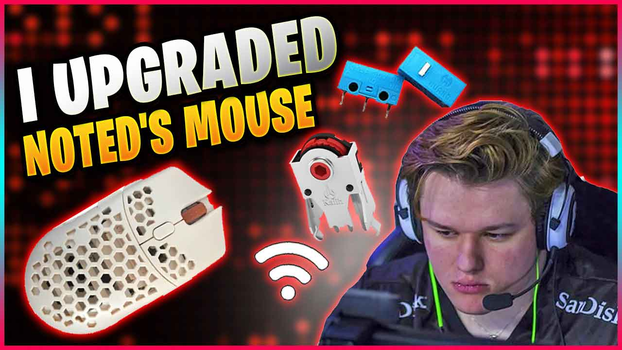 I've Updated Noted Custom Mouse to use a LR44 battery Finalmouse Ultralight 2 Wireless Mod