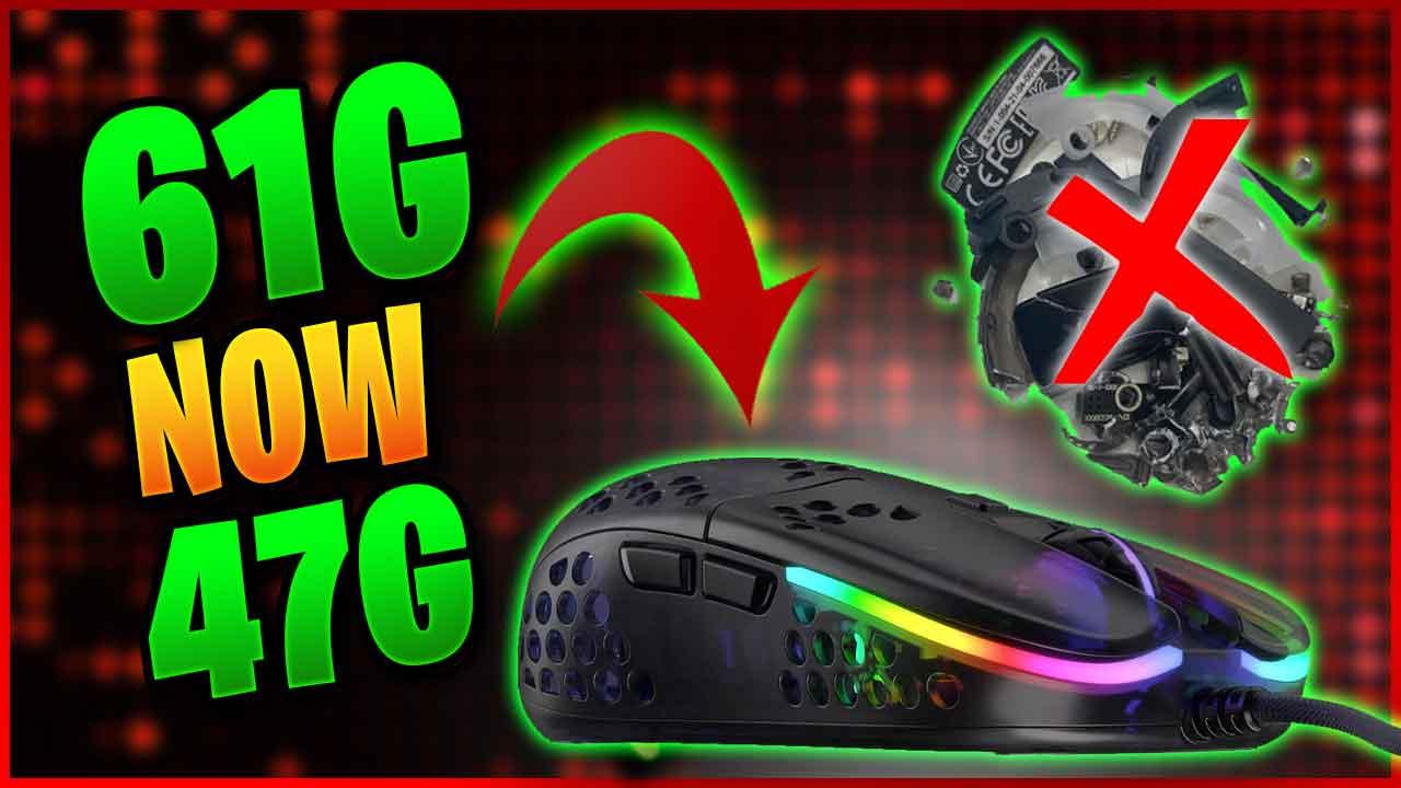 Make It Featherlight and Remove 15g – Xtrfy Mz1 Rocket Jump Ninja Gaming Mouse