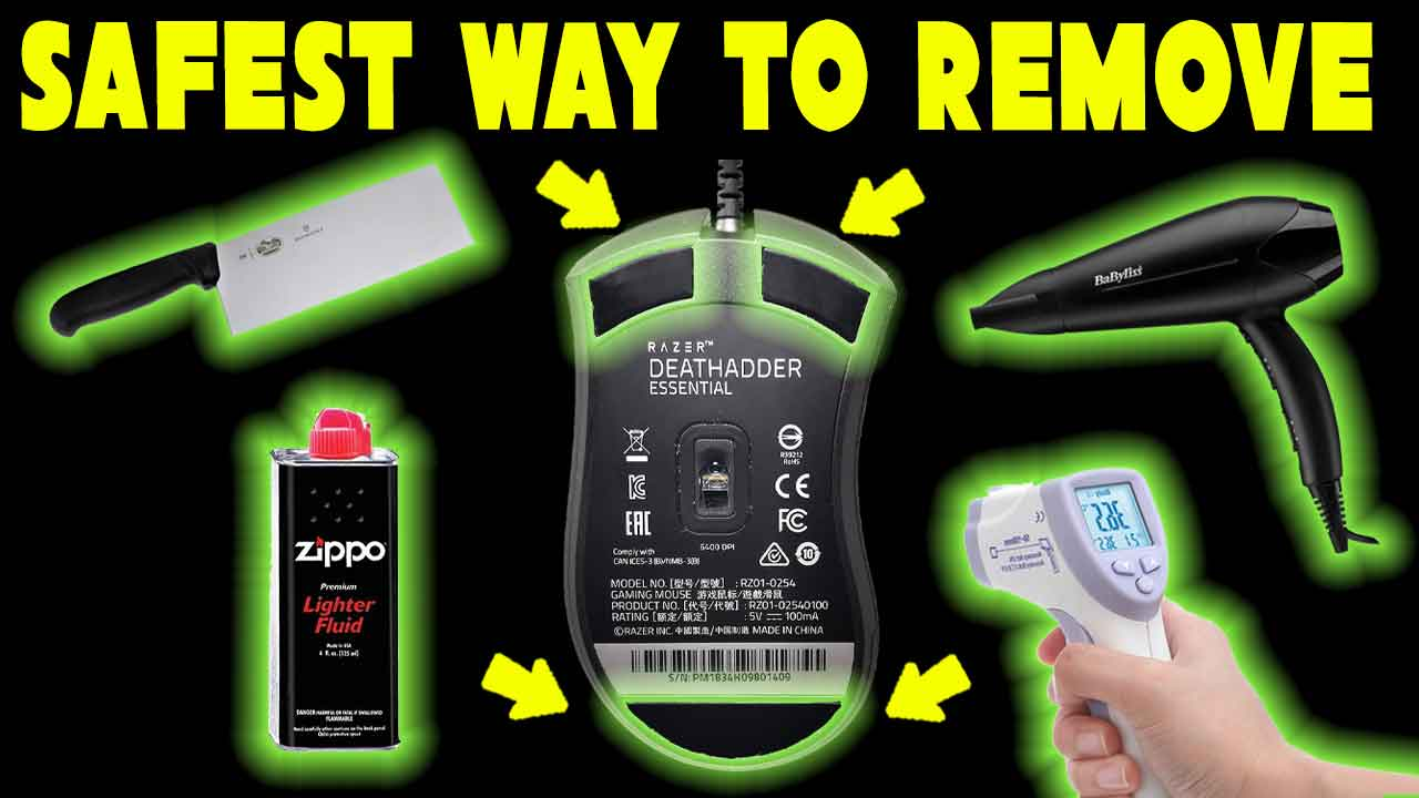 How To Remove Mouse Feet Without Damage